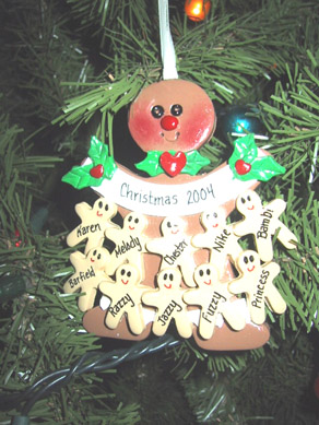Every Year We Get An Ornament With All Our Familys Name On It This Was Packed To 10 What A Big Family Have
